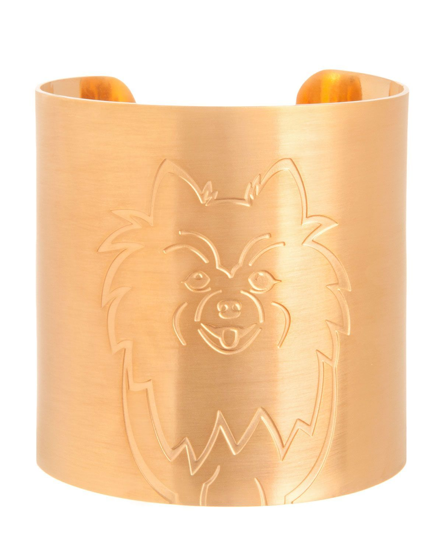18k Gold-Plated Pomeranian Dog Cuff