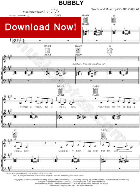 Colbie Caillat Bubbly Sheet Music Favorite Songs Pinterest