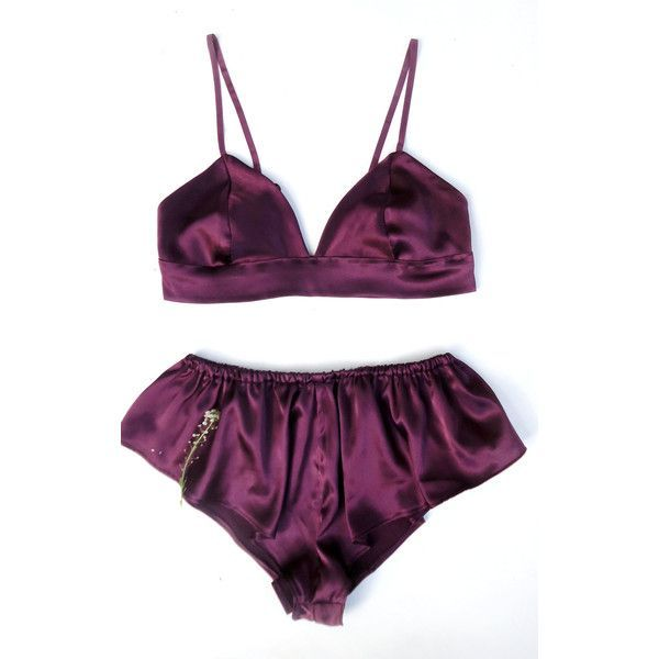 Burgundy Lingerie set, silk lingerie, vintage lingerie, french... ($44) ❤ liked on Polyvore featuring intimates, bras, silk bra, lingerie bras, silk knickers, silk lingerie and bralette bras - men lingerie, womens black lingerie, lingerie garter belt *ad