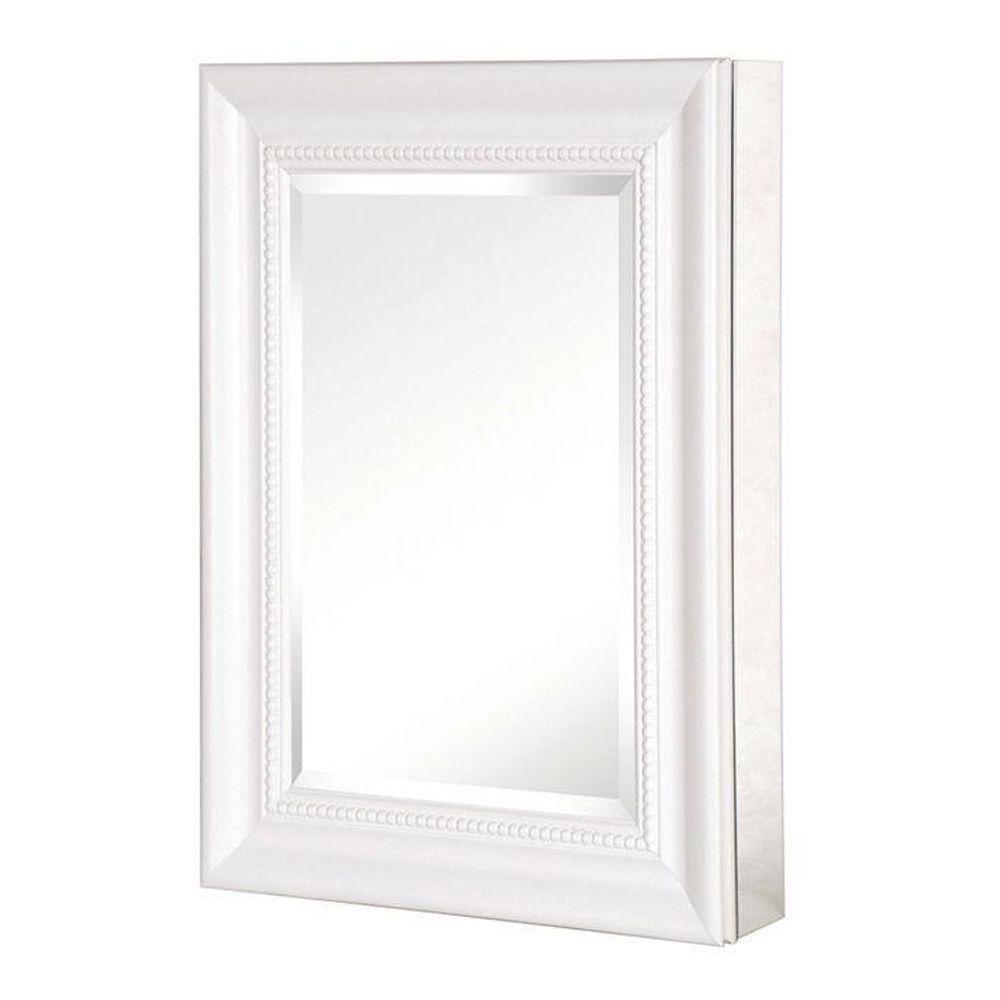 Pegasus 15 In X 26 In Recessed Or Surface Mount Mirrored Medicine Cabinet With Deco F Medicine Cabinet Mirror Recessed Medicine Cabinet Bathroom Cabinets Diy