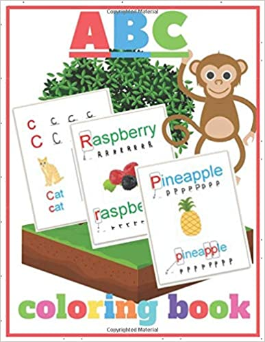 Abc Coloring Book A To Z Letters Ready For Coloring And Writing With Examples For Each One Artes Kela 9798611 Alphabet Coloring Coloring Books Abc Coloring