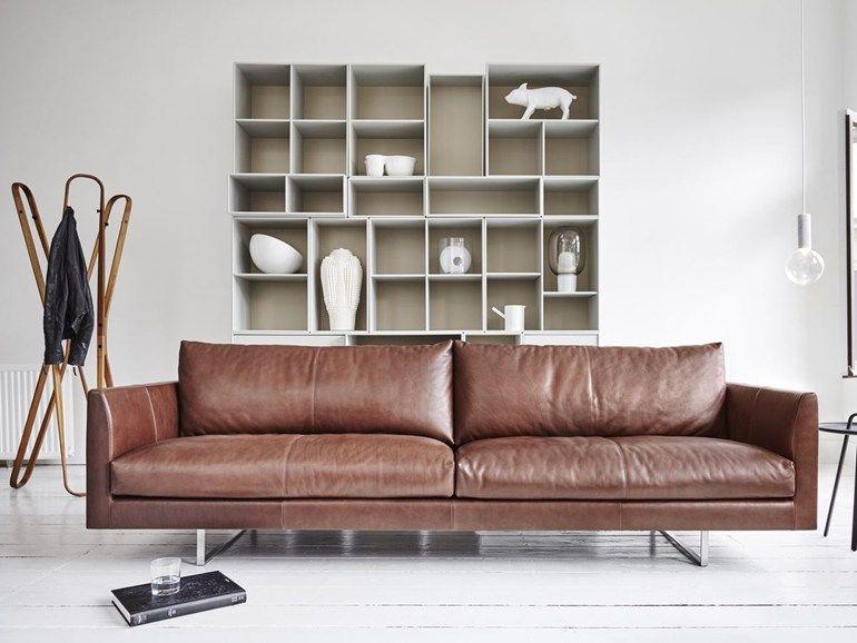 Montis Design Bank.Axel Leather Sofa By Montis Design Gijs Papavoine Furniture