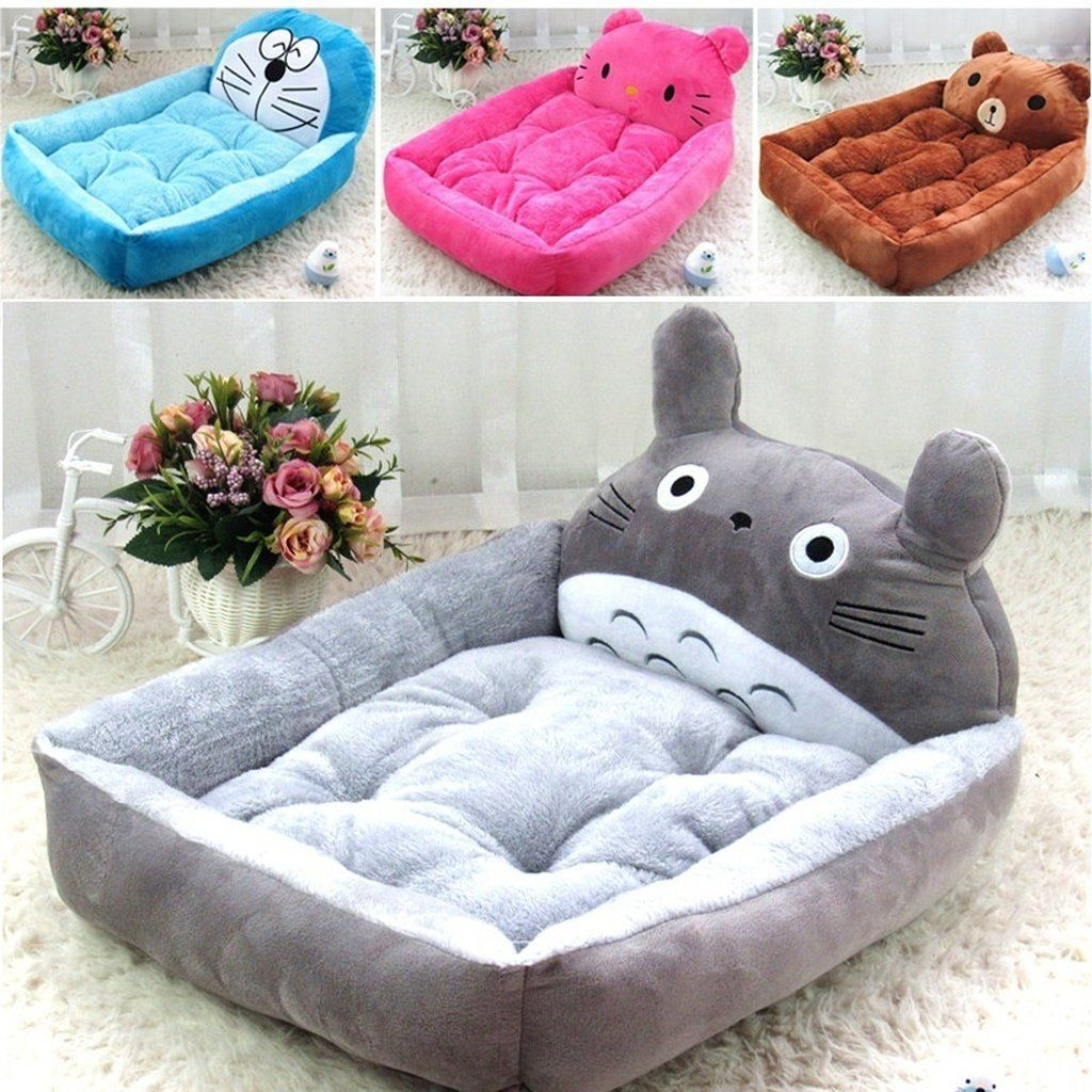 Pet Beds With Animal Faces On Them Plush And Comfy Big