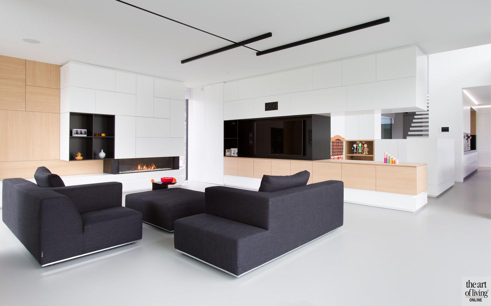 Minimalistic tv furniture block office architecten maatmeubilair