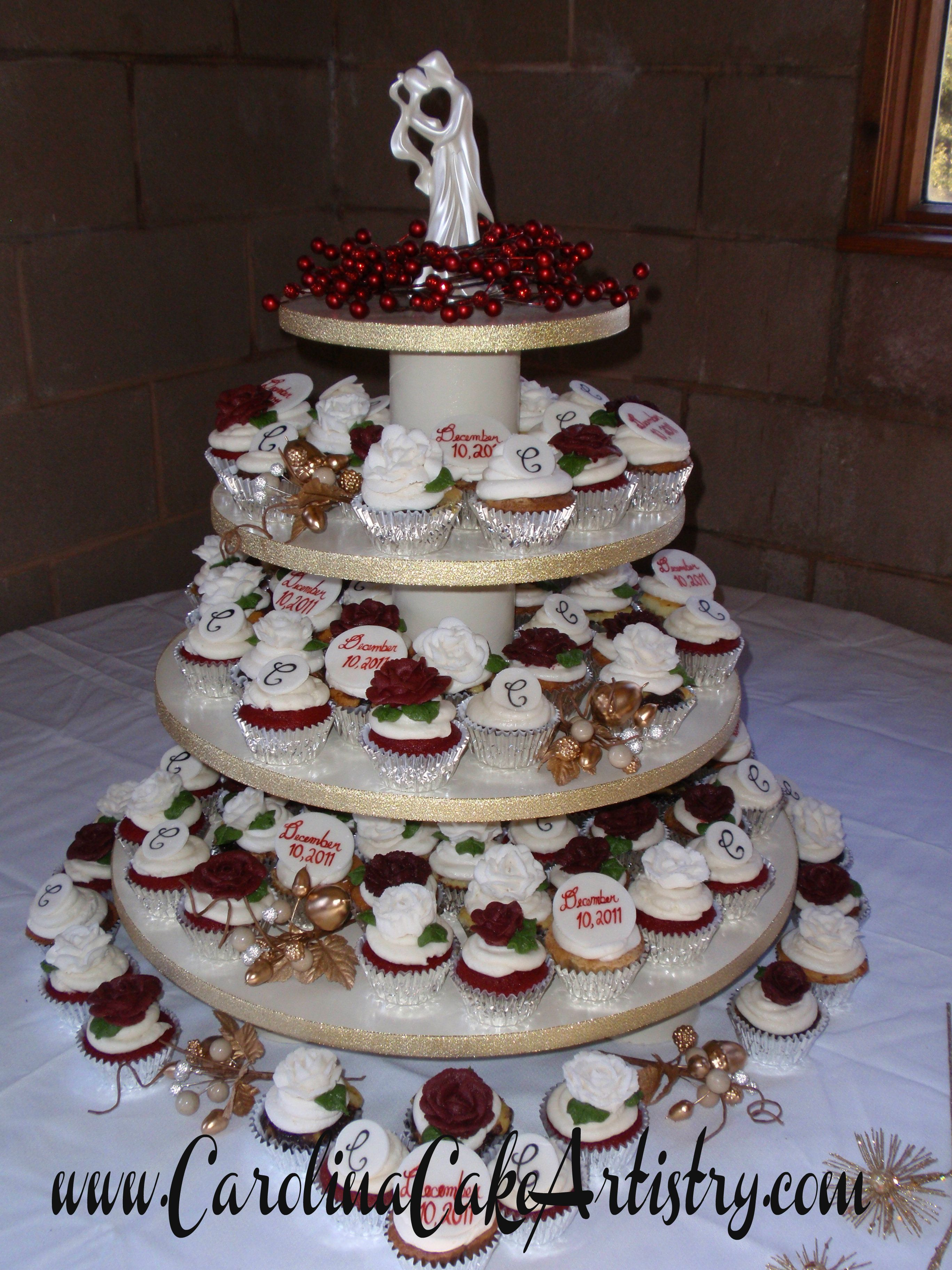 Christmas Cupcake Wedding Wedding Cakes Pinterest