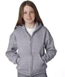 Jerzees Youth NuBlend® Hooded Full-Zip Sweatshirt 993B Oxford