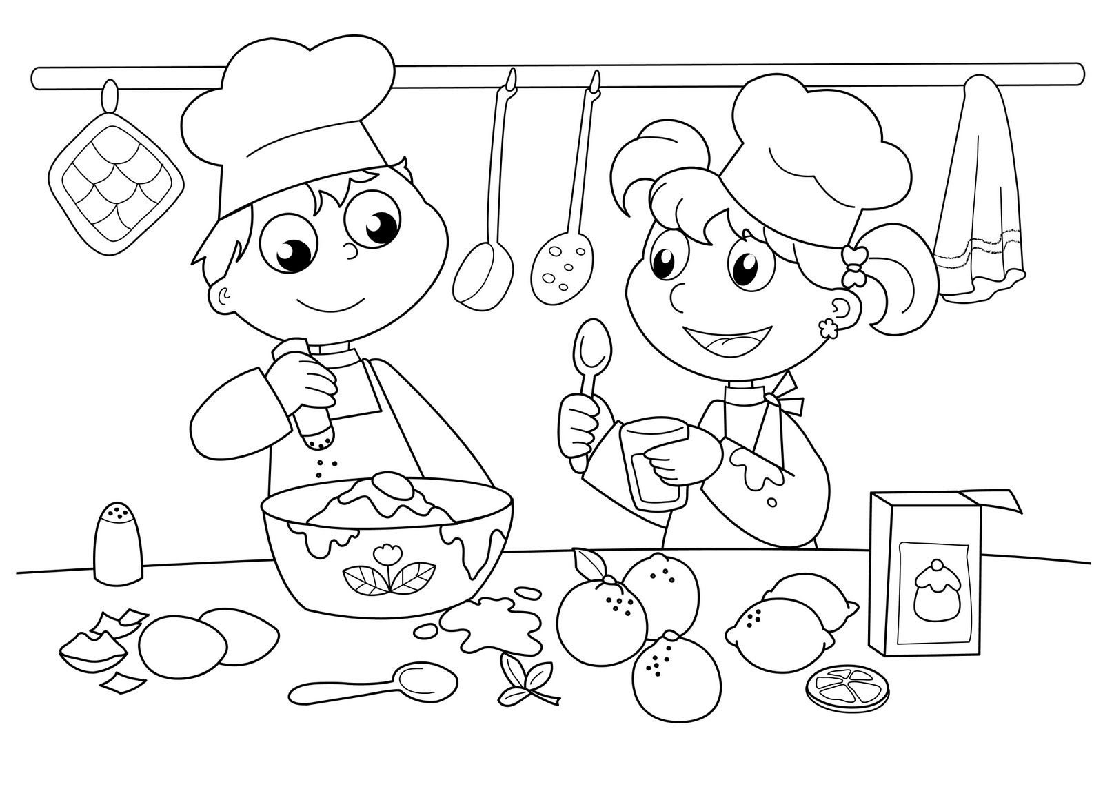 Chef Cooking Color Page Summer Coloring Pages Coloring Pages For Kids Coloring Pages