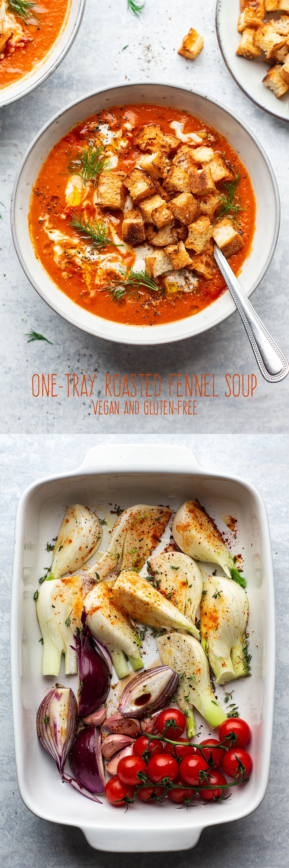 Roasted tomato and fennel soup Recipe in 2020 Vegan