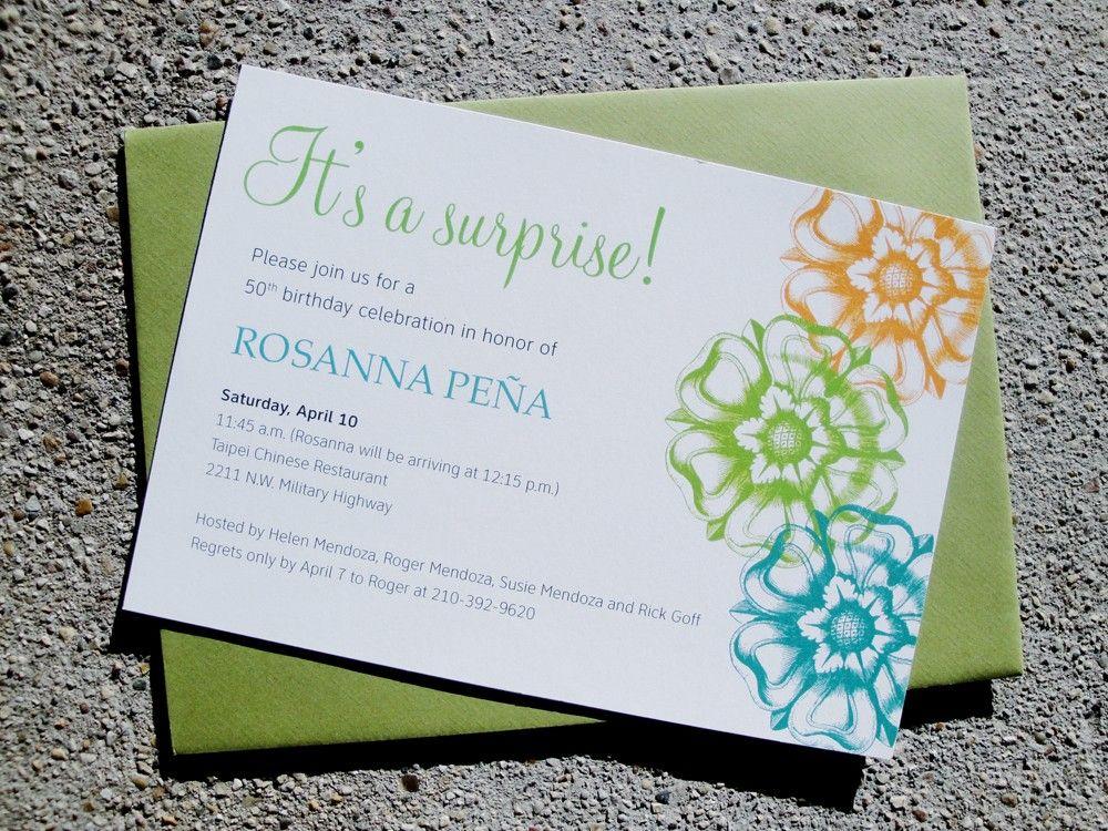 surprise bridal shower invitations