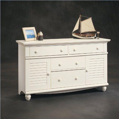 Best Sauder Harbor View Dresser Antiqued White Http Www 400 x 300