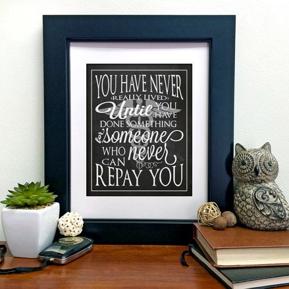 Doctor Medical Gift You Have Never Really Lived Instant Printable 8x10 Wall Art Quote Office Decor Graude Thank