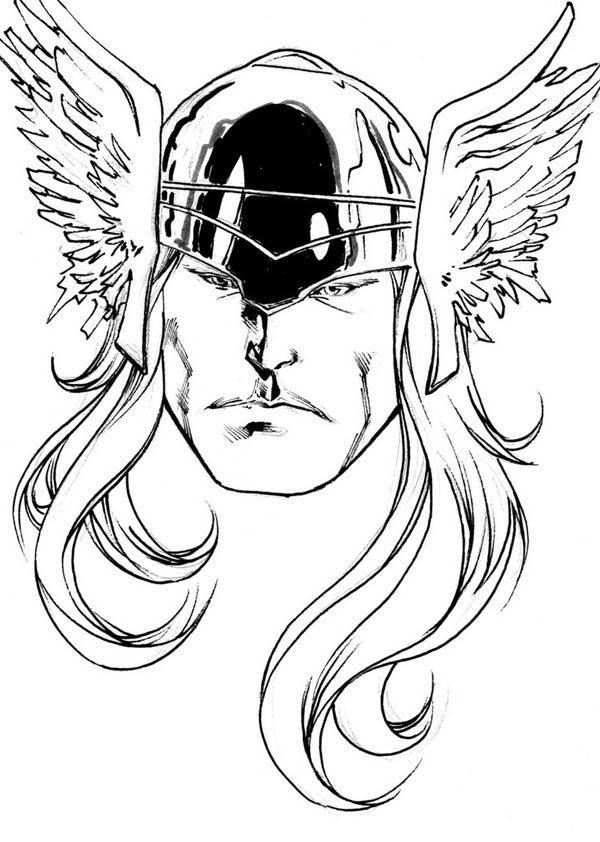 Thor Face Coloring Pages Google Search Sketches Coloring