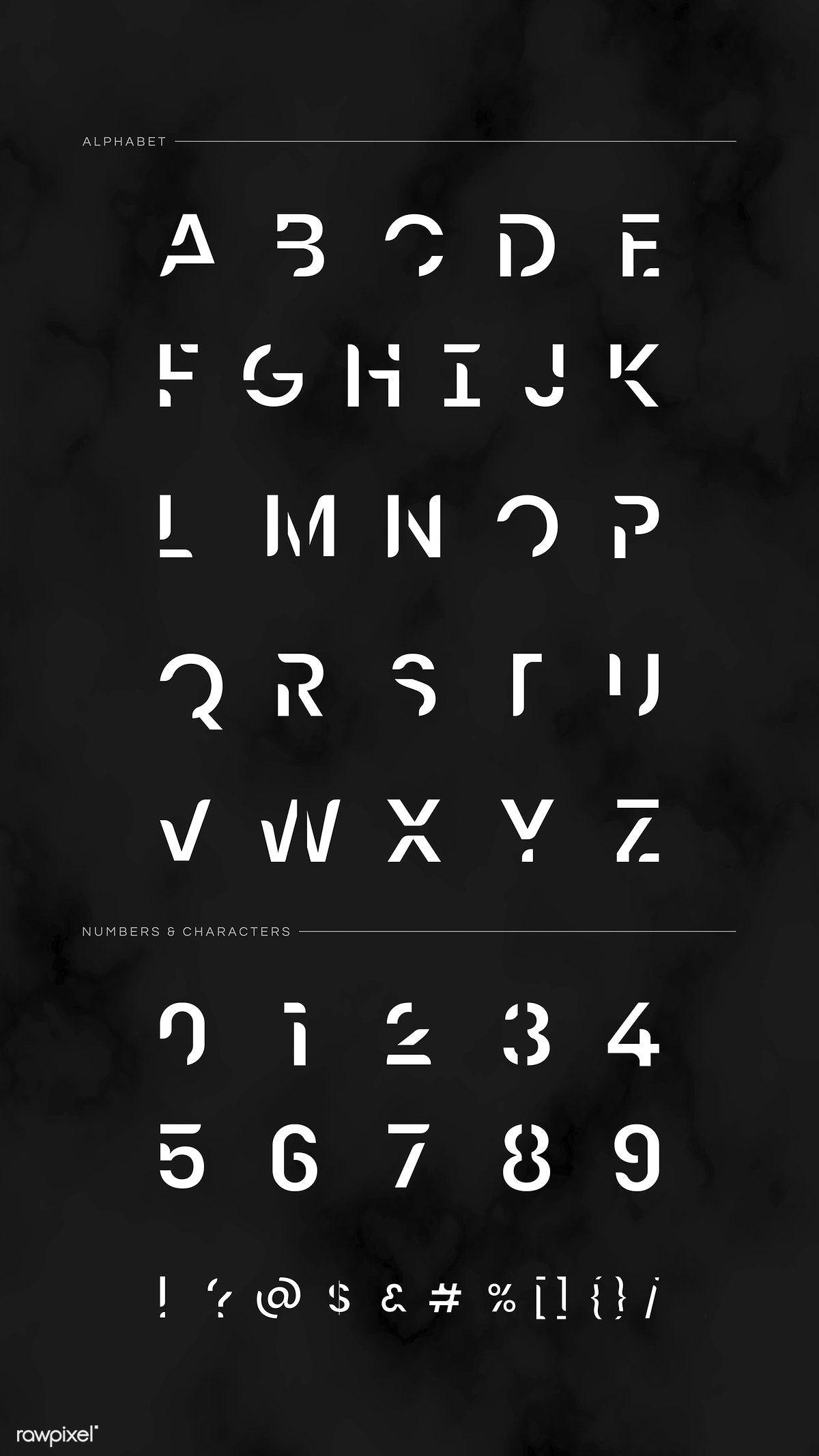 The English alphabet typography vector   premium image by rawpixel.com / Aew #vector #vectoart #digitalpainting #digitalartist #garphicdesign #sketch #digitaldrawing #doodle #illustrator #digitalillustration #modernart #alphabet