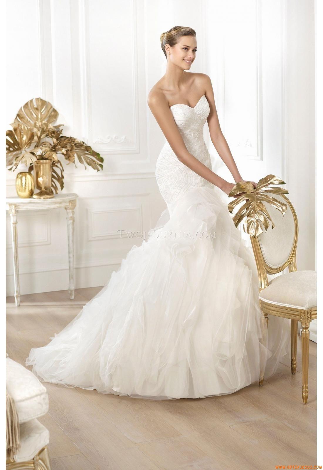 Brautkleider Pronovias Leire 2014 | organza wedding dresses ...