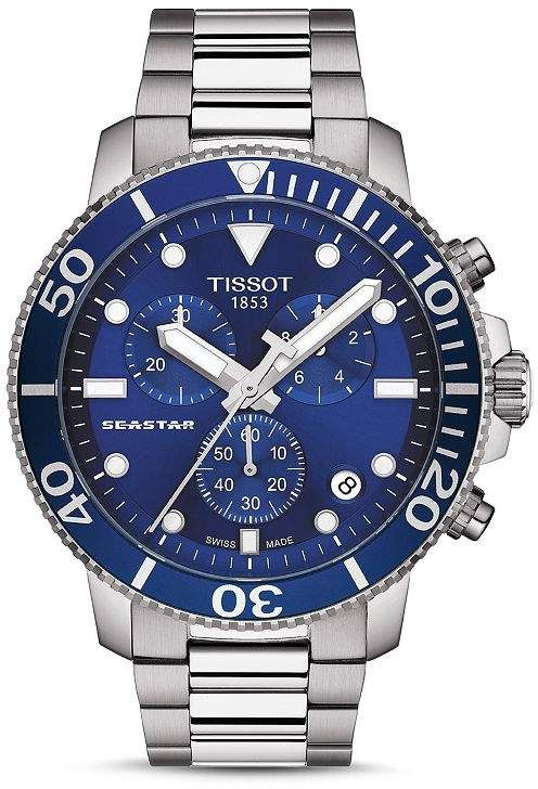 Tissot Seastar 1000 Blue-Dial Chronograph, 45.5mm Jewelry & Accessories - Bloomingdale's #rolexwatches