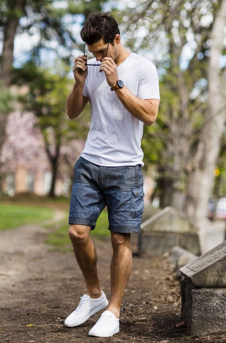 Men\u0027s summer style the best outfit for this summer. White shoe are  Happening  Stylish men are always attractive