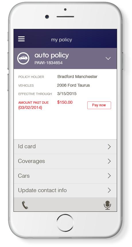 image result for esurance mobile app design