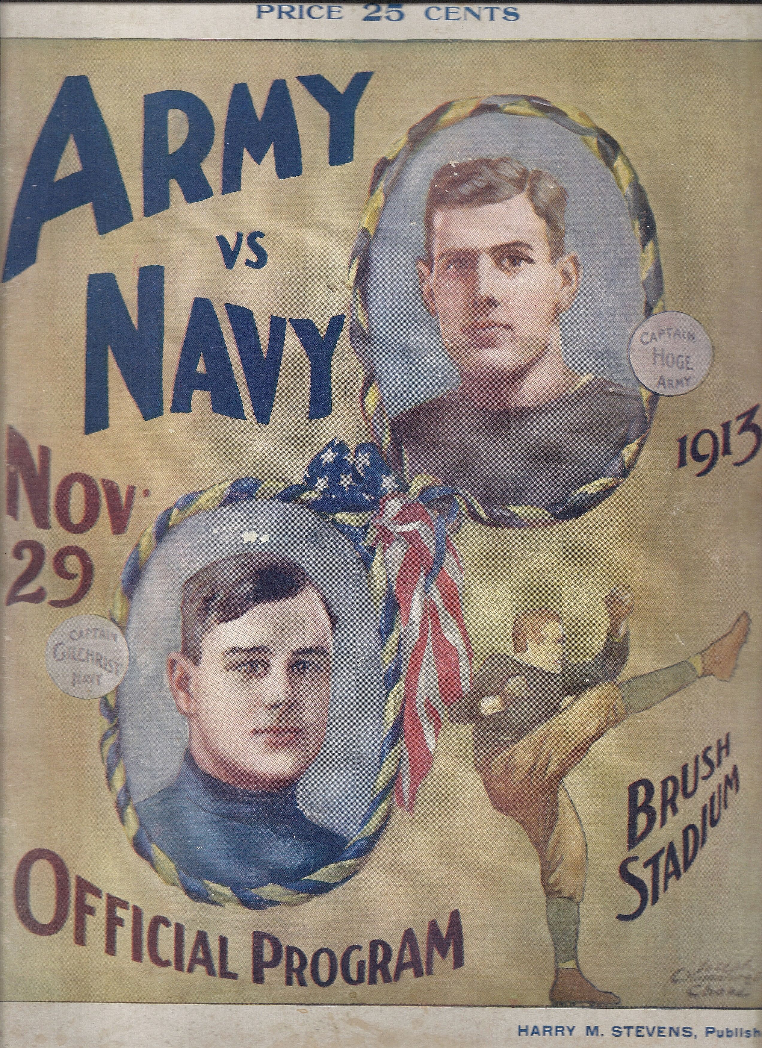 1913 Army Navy Football Program Army Navy Football Navy