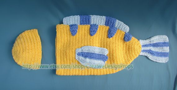 Fish Disney Costume for Baby Flounder by CreativeDesignProps, $35.00