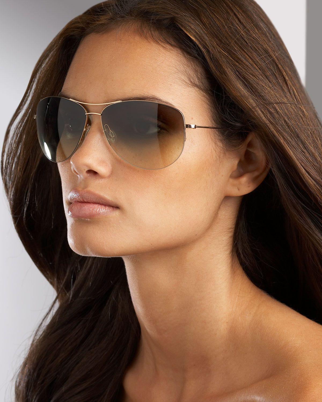 658712a9d4764 Oliver Peoples Black Strummer Aviator Sunglasses