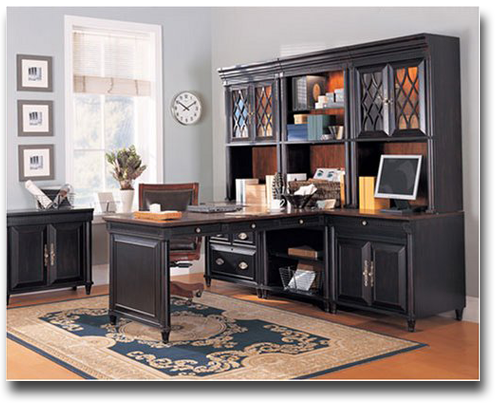 Black Modular Home Office Computer Desk Set Home Office Furniture Sets Modular Home Office Furniture Office Furniture Set