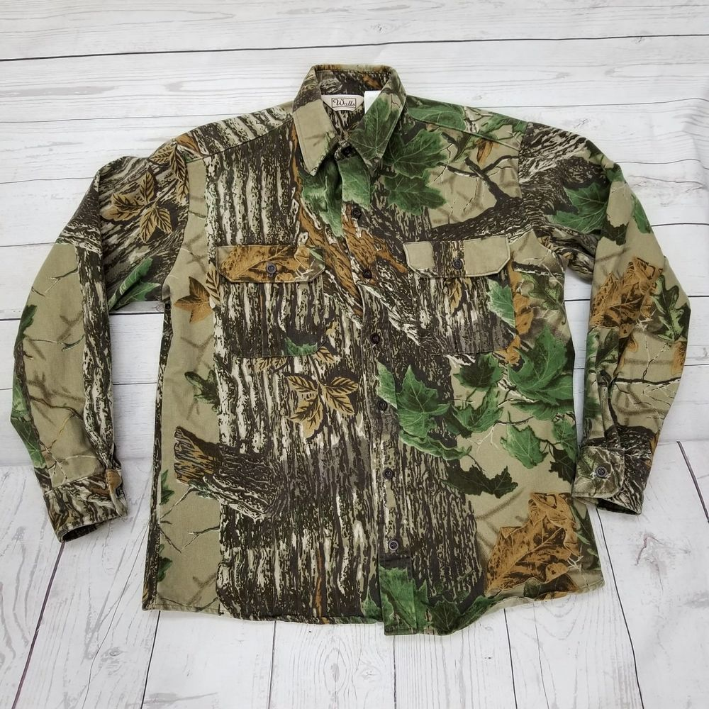 walls realtree camo shirt heavyweight cotton button front on walls coveralls camo id=62415
