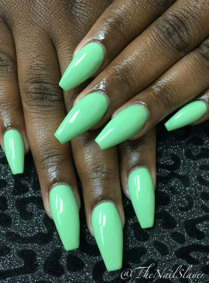 Green stiletto | nails did | Pinterest