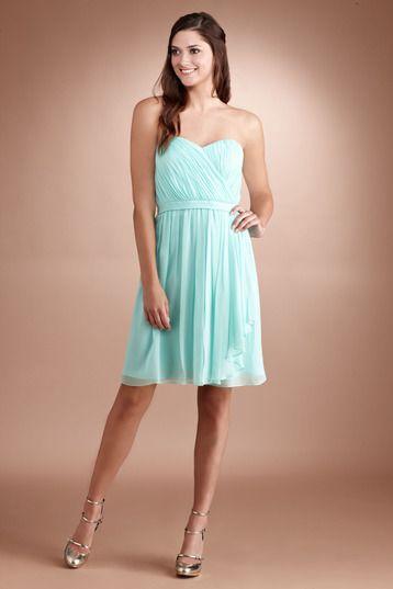 Donna Morgan Lindsey Bridesmaid Dress | Weddington Way, spearmint? With glitter belt?