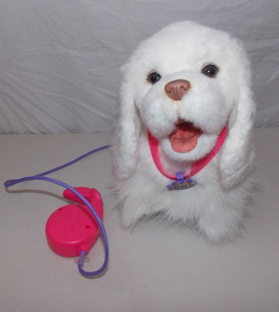 Hasbro Fur Real Friends Gogo My Walking Pup Dog White Hasbro