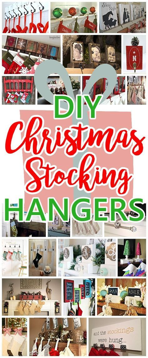 The best diy christmas stocking hangers and display ideas cheap cheap and easy do it yourself christmas stocking hangers and clever tutorials ideas and ways solutioingenieria Gallery