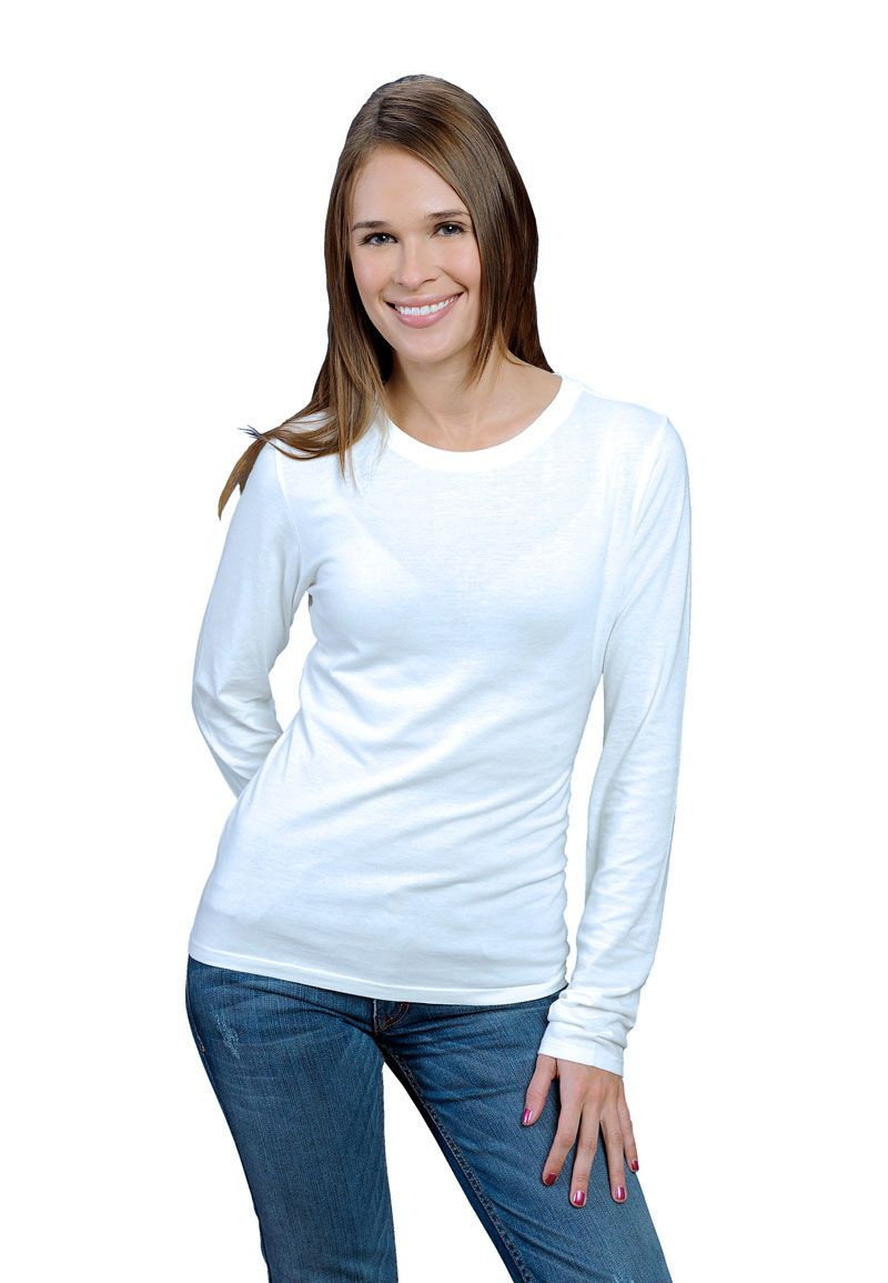 848d4462a0 ONNO women's bamboo and organic cotton long sleeve shirt in white ...