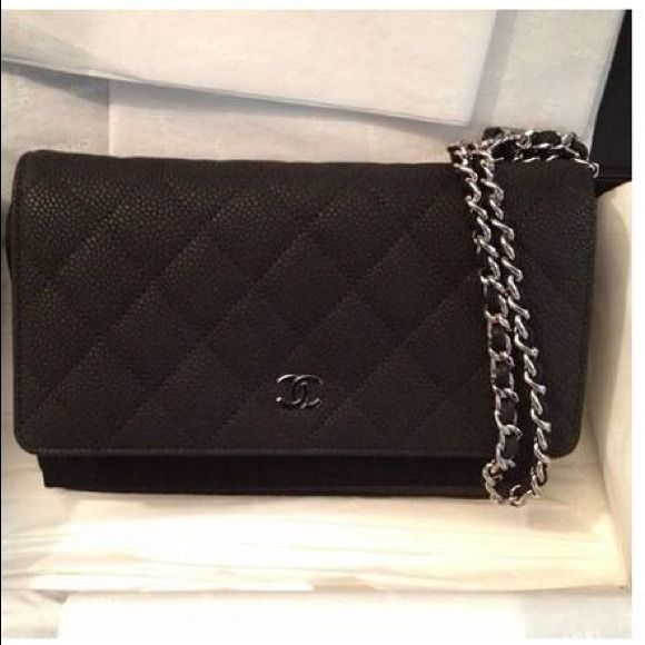 f31bbbb4694c CHANEL-Wallet on Chain WOC Black Matte Caviar SHW! CHANEL-Authentic Wallet  on