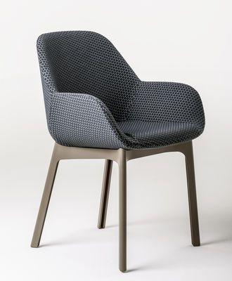 Fauteuil Rembourre Clap Tissu Pieds Plastique Graphite Pieds Tourterelle Kartell Furniture Chair Design Interior Furniture