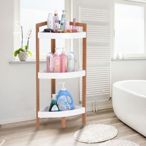 3 Tier Corner Shelf Tower Storage Bathroom Primetimepe