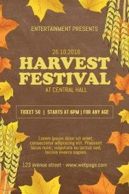fall festival flyer templates