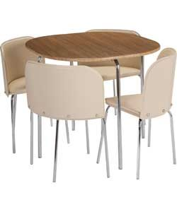 Hygena amparo oak effect dining table and 4 cream chairsgos hygena amparo oak effect dining table and 4 cream chairsgos workwithnaturefo