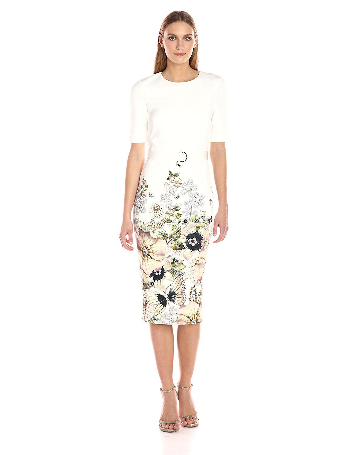 0f6529d2a50622 Amazon.com  Ted Baker Women s Layli Gem Garden Bodycon Dress  Clothing