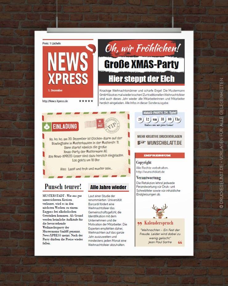 kostenlose weihnachtsfeiereinladung mit lustigem einladungstext, Einladung