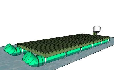 This is a 8'x20' modular pontoon boat I designed, made from