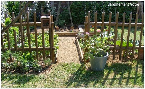 petit potager potager cloture jardin