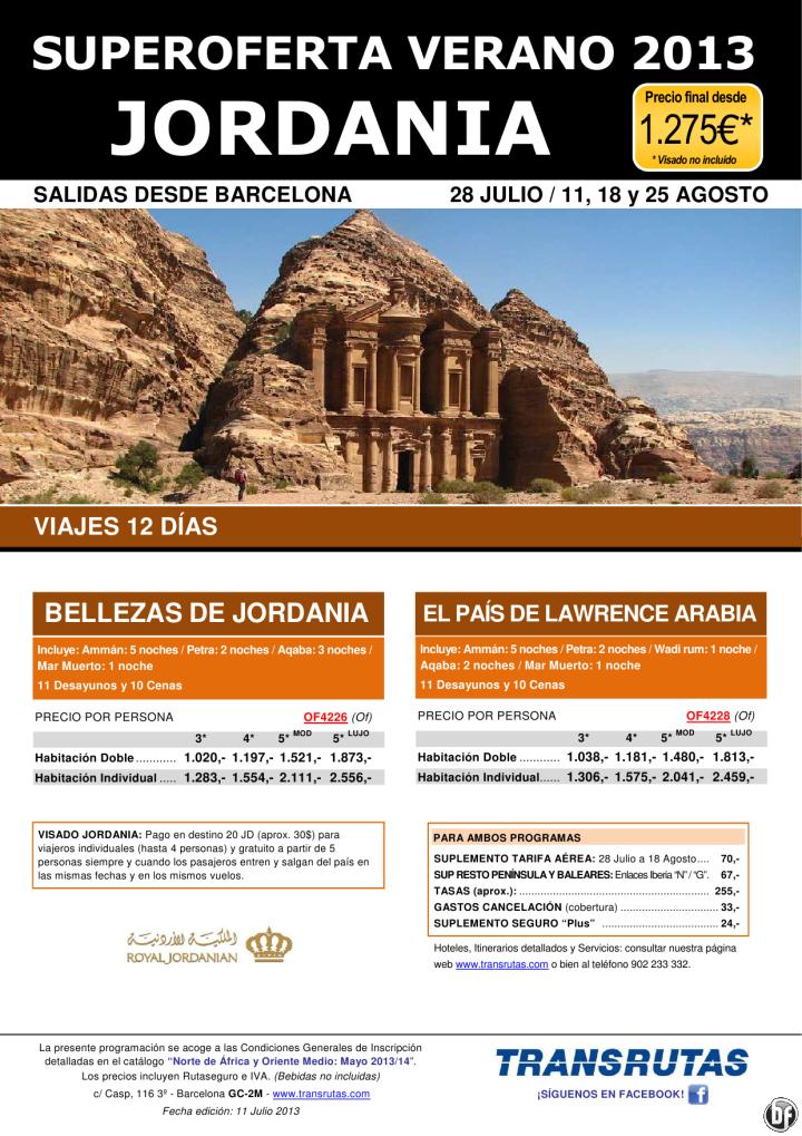 JORDANIA / 12 días ¡¡Superoferta Verano: 28 Julio a 25 Agosto!! sal. Barcelona - http://zocotours.com/jordania-12-dias-superoferta-verano-28-julio-a-25-agosto-sal-barcelona/