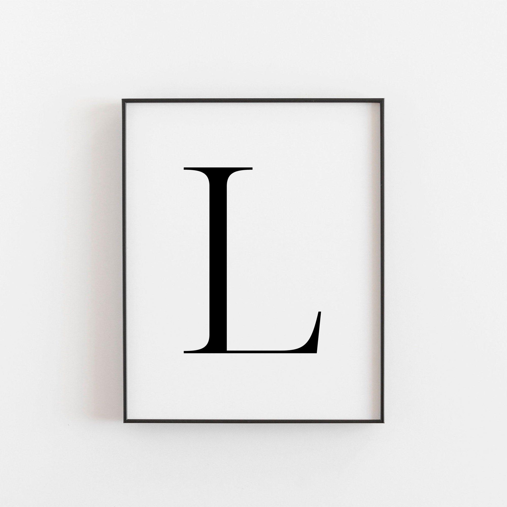 Letter L Wall Decor Letter L Print Letter L Poster Letter L Etsy Letter Wall Art Letter Wall Decor Decorative Letters