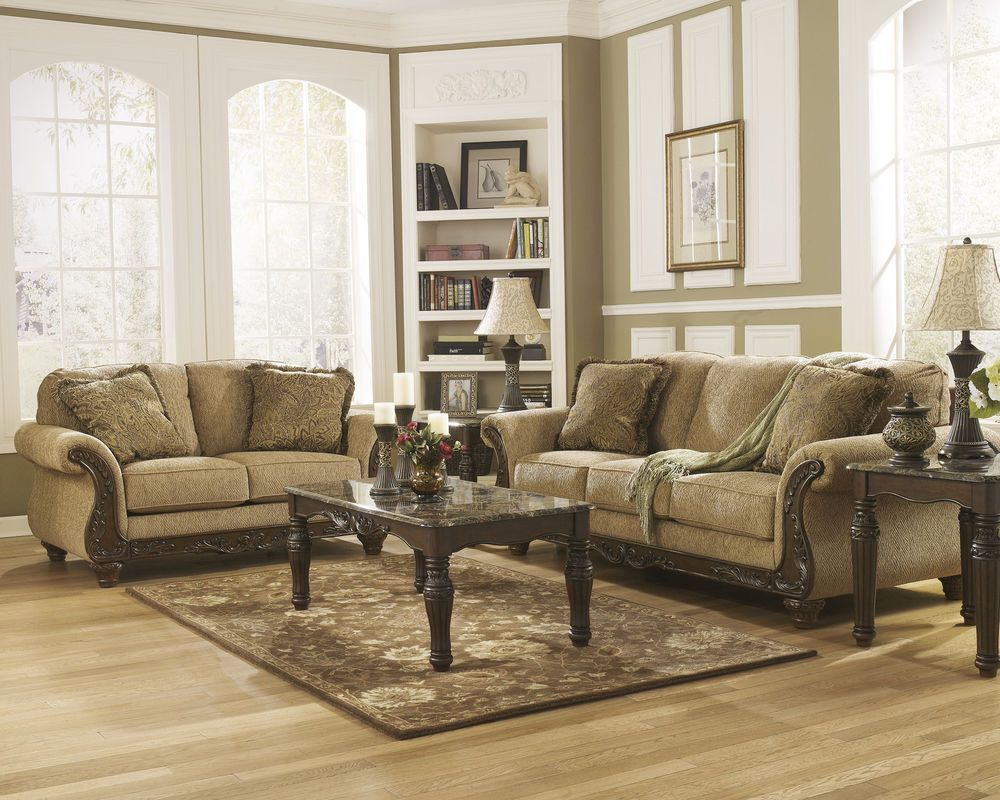 Cambridge Traditional Beige Living Room Furniture Sofa Love Seat Set Ashley Living Room Furniture Sofas Living Room Sets Furniture Beige Living Room Furniture #traditional #living #room #furniture #sets