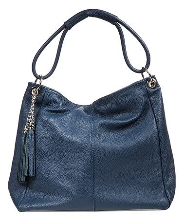 e449e99219c Love this Dark Blue Tassel Leather Hobo on  zulily!  zulilyfinds ...