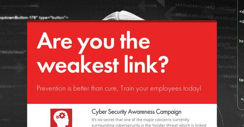 Are You The Weakest Link Cyber Security Awareness Awareness Campaign Cyber Security