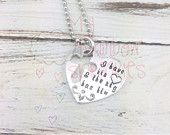 Oilfield Wife/Girlfriend Hand Stamped Personalized Necklace