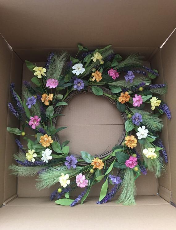 Photo of Summer wreaths for front door,Spring wreath for front door, Flower berry wreath, Flower wreath, Fron