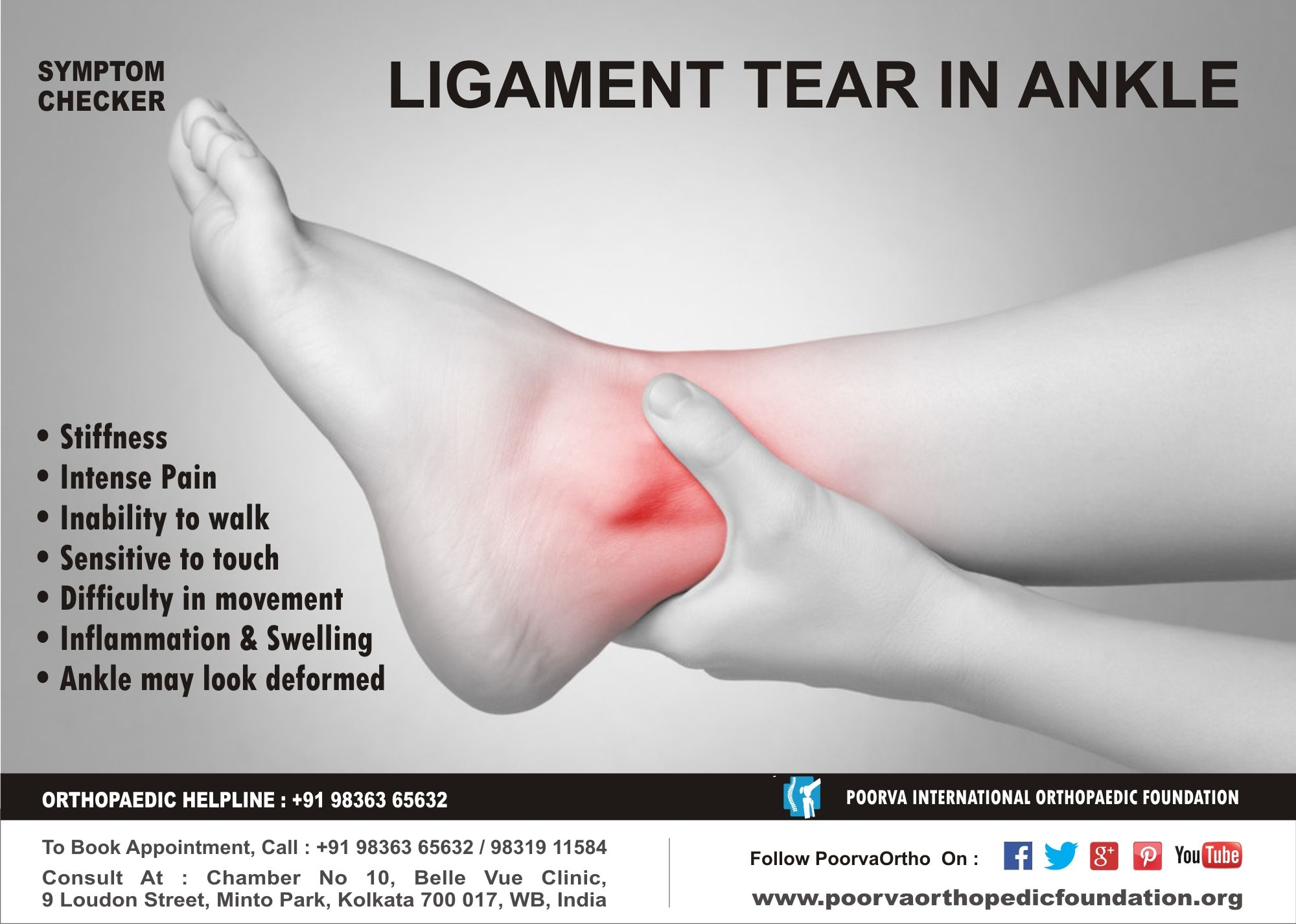 Symptoms For Ligament Tear In Ankle Jointstreatment Joints