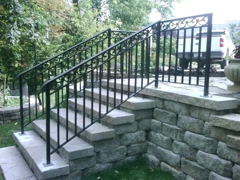 Best Handrails For Outside Steps Marvelous Railings Outdoor Stairs Wrought Iron Front Metal Exterior 400 x 300