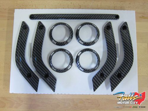 Details About 2011 2015 Jeep Wrangler Jk Carbon Fiber Look